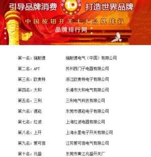 """""""2018年度中国按钮开关十大品牌总评榜""""荣耀揭晓孝义"""